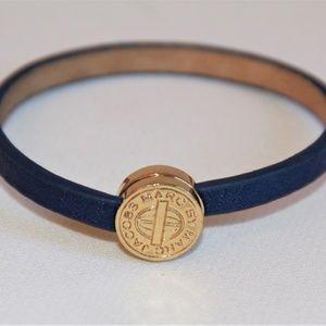 Marc by Marc Jacobs Skinny Engraved Blue Bracelet